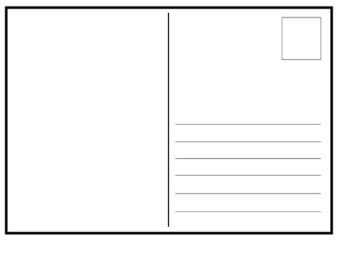 card template ks2 postcard template blank a4 landscape by gentleben