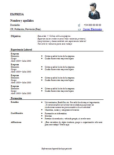 Plantillas De Curriculum Vitae Funcional Para Rellenar Search Results For Hoja De Curriculum Para Rellenar