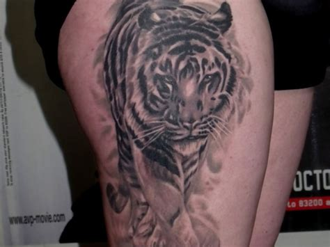 tiger thigh tattoo designs 53 tiger tattoos and designs for thigh