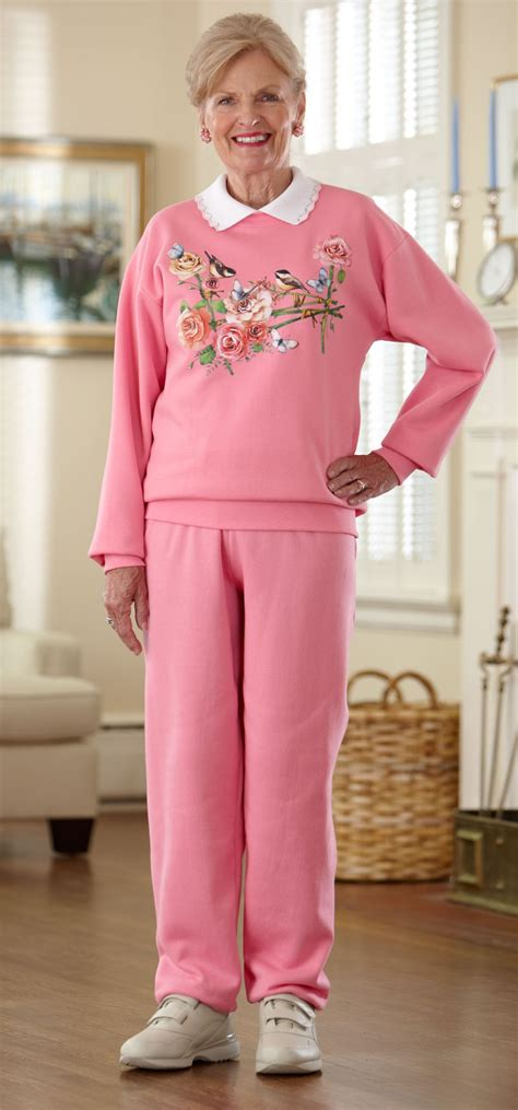 Wardrobe Fashion by S Printed Adaptive Sweat Suit With Collar Buck Buck