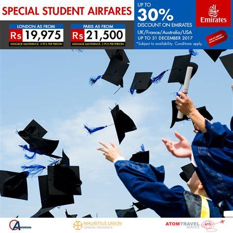 special student airfares atom travel