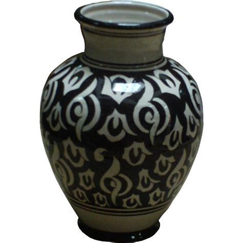 Moroccan Vases by Moroccan Ceramic Black White Pottery Vase Of Safi Morocco