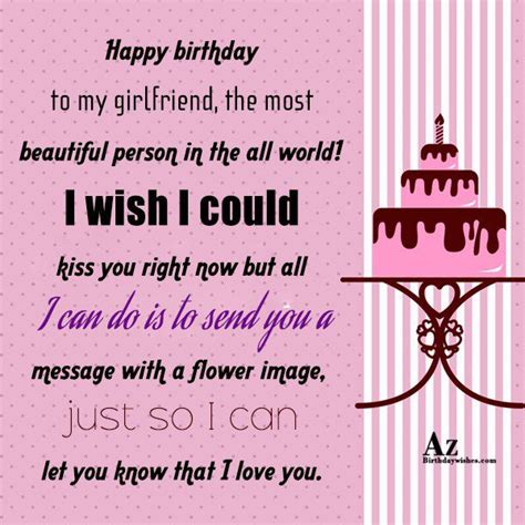 the most beautiful my happy birthday to my girlfriend the most beautiful person
