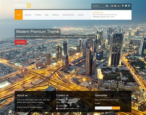 drupal theme with background image inspiro b responsive theme for drupal 7 by inspiromedia
