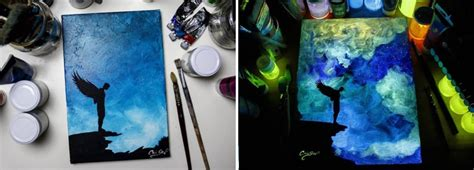 does the glow in the paint work glow in the paint reveals surprises in paintings when