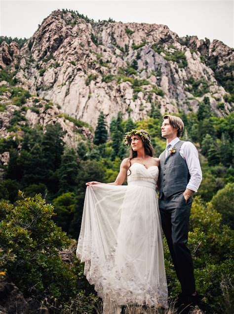 Intimate Utah Mountain Wedding: Ashton   Jordan   Green