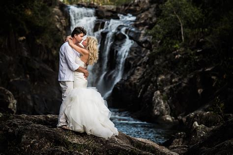 trash the dress waterfall trash the dress in belize