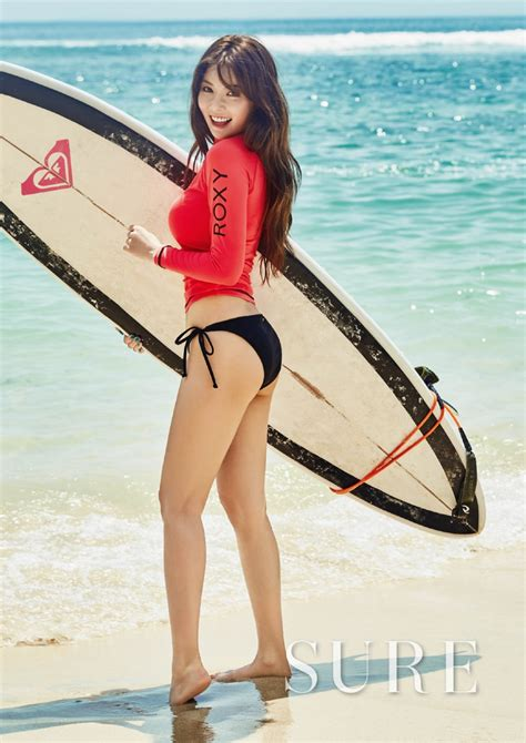 hyuna is as sexy as ever in recent photo shoot soompi hyuna unveils her 2016 beach body in sexy new bikini