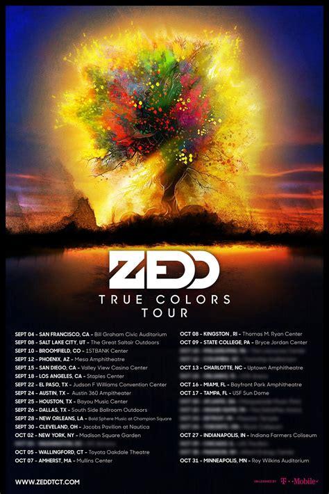 true colors tour zedd announces true colors tour edm