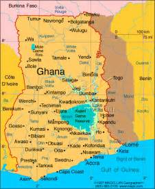 Ghana World Map by Maps And Geography