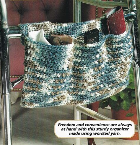 crochet walker bag pattern 30 best crochet totes for wheelchairs walkers images on