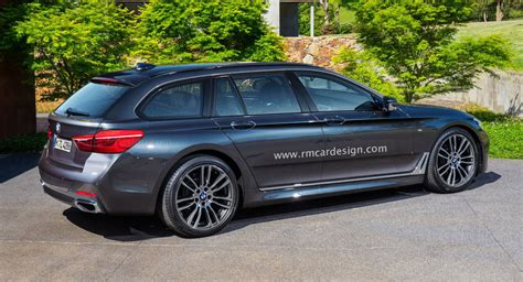 bmw sporty all new bmw 5 series touring rendering borders on sporty