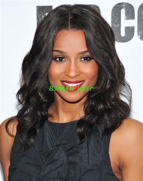 middle part shoulder length hairstyles for black women middle part medium length 14 ladies wigs for black women