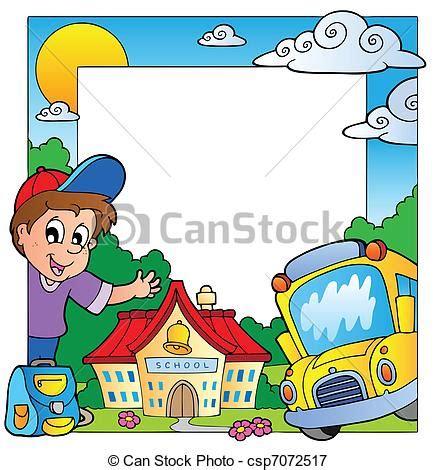 clipart gratis scuola illustrazioni vettoriali di 1 scuola tema cornice