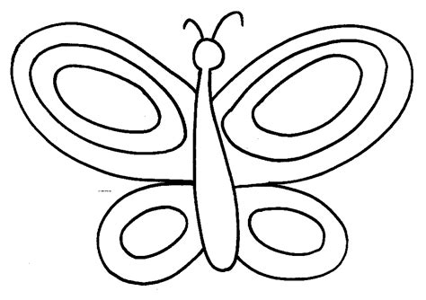 simple coloring pages of butterflies butterfly coloring pages for kids kids world