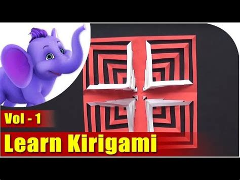 kirigami magic spinning card template learn kirigami vol 1