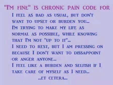 Chronic Pain Meme - i m fine fibromyalgia and pts pinterest