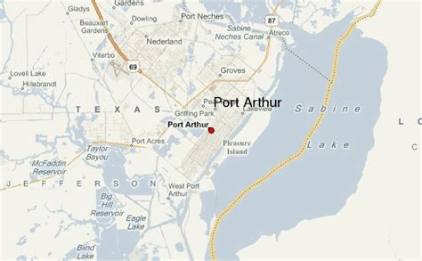 port arthur texas map port arthur location guide