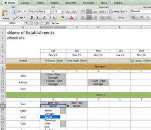 Restaurant Schedule Template by Restaurant Employee Scheduling Template For Excel 7shifts