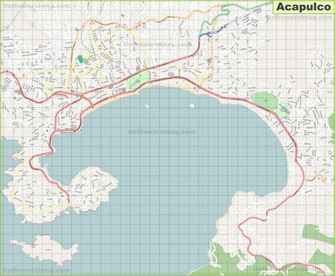 mexico city world map large detailed map of acapulco
