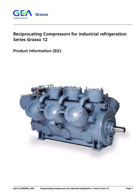 Calam 233 O Reciprocating Compressors For Industrial