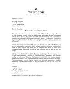 appreciation letter university of windsor appreciation letter