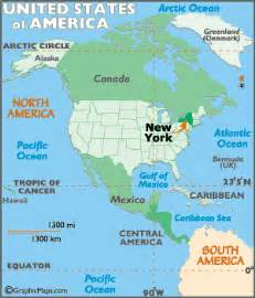 new york map geography of new york map of new york