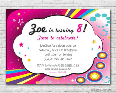 printable birthday invitations and envelopes totally cool birthday party invitation printable or