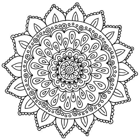 Muster Mandala Vorlagen muster mandala blume