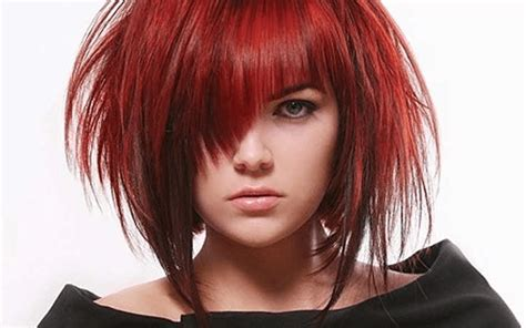 outrageous short red hairstyles  show   fire