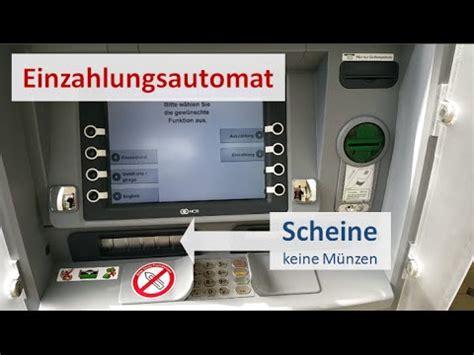 einzahlungsautomat deutsche bank einzahlung bargeld bei der dkb anleitung