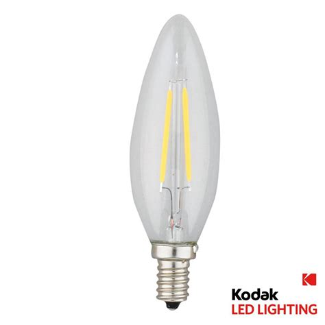 Led E12 Light Bulb Kodak 25w Equivalent Warm White E12 Candle Torpedo Dimmable Led Light Bulb 41067 Ul The Home Depot