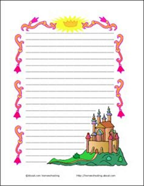 castle writing paper ideas for times for a fair