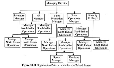 pattern of organization classification process of organizing a retail firm steps diagram and