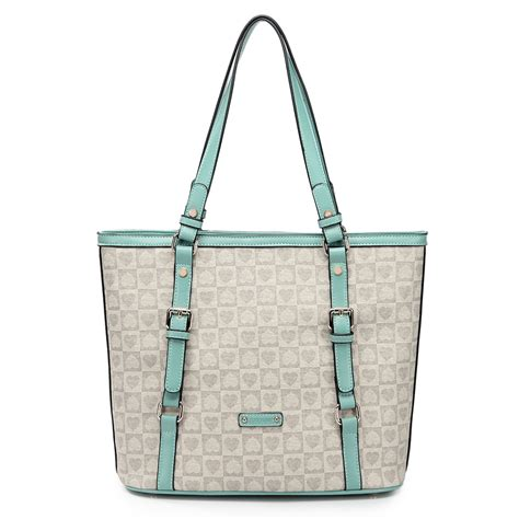 Contrast Color Tote s contrast color tote bag green