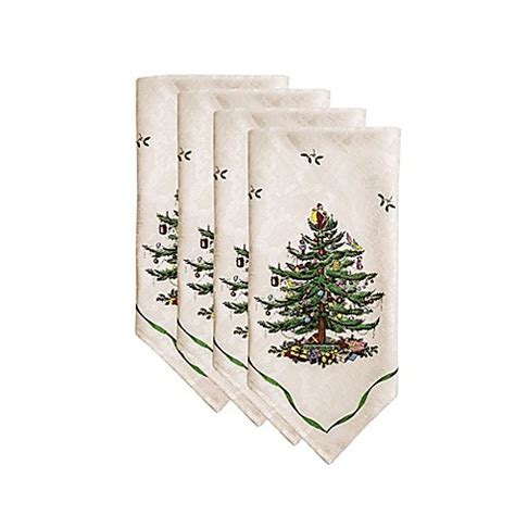 spode 174 christmas tree napkins set of 4 bed bath beyond