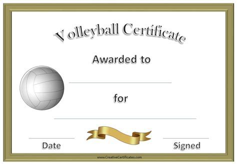Mvp certificate template funny bowling certificate awards quotes free volleyball certificate templates customize online yelopaper Image collections