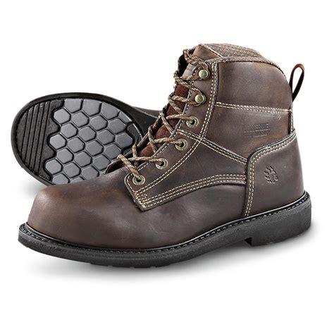 wolverine steel toe work boots for s wolverine 174 durashocks 174 steel toe work boots brown