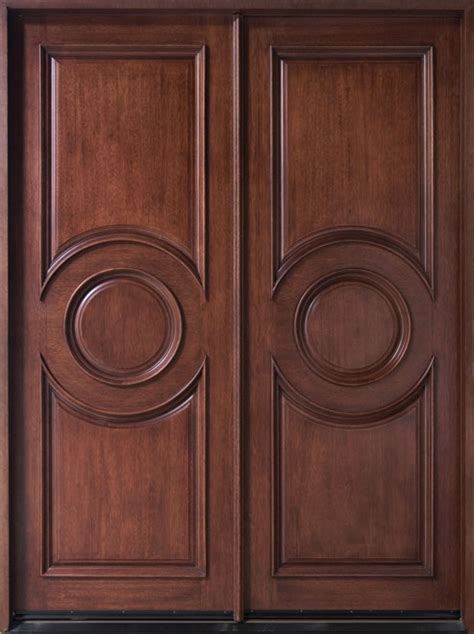 dark rustic wood through the front door contemporary series mahogany solid wood front entry door