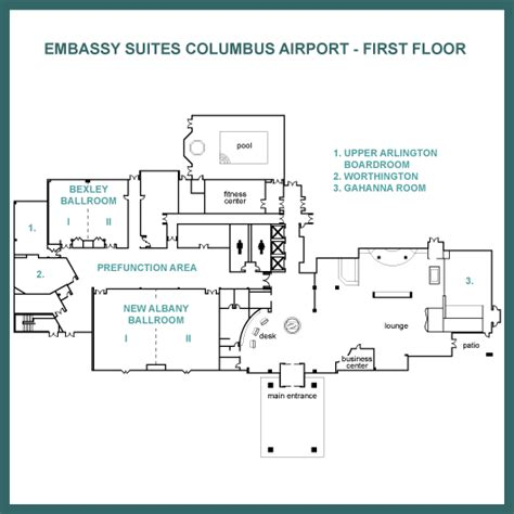 embassy suites floor plan first floor floor map