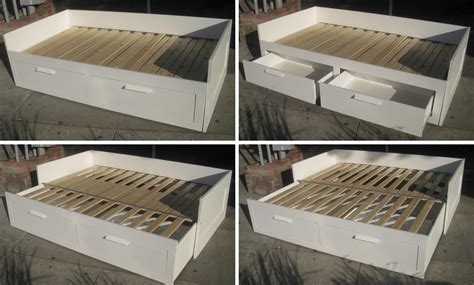Brimnes Daybed Frame With 2 Drawers day bed brimnes daybed mattress brimnes daybed
