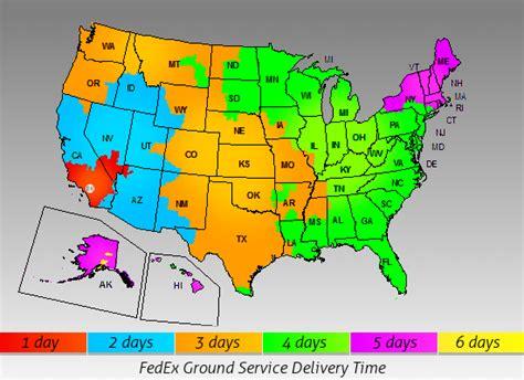 fedex ground map fedex ground service map my