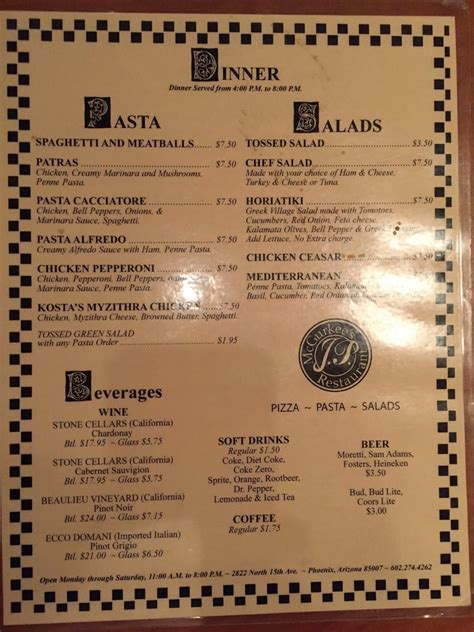 Noodles Italian Kitchen Menu by Pizza And Pasta Dinner Menu Yelp