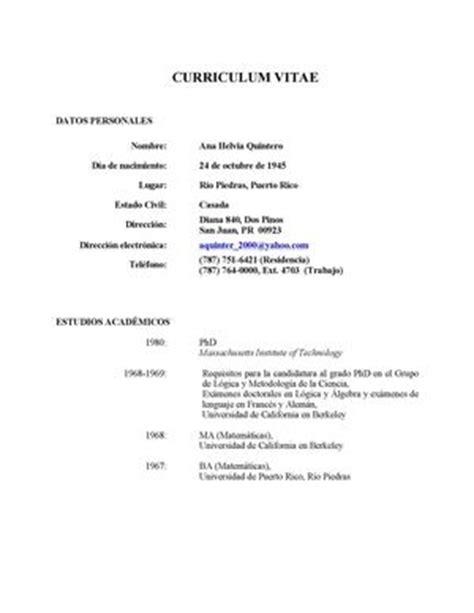 Modelo Curriculum Vitae Descriptivo Modelo De Curriculum Vitae Guatemalteco Modelo De Curriculum Vitae