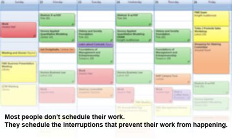 Calendars That Work With Schedule Your Work To Avoid Choking Your Calendar With