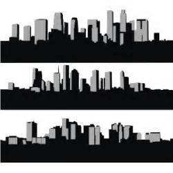 City Outline Vector by City Skyline Silhouette Vector Freevectors Net