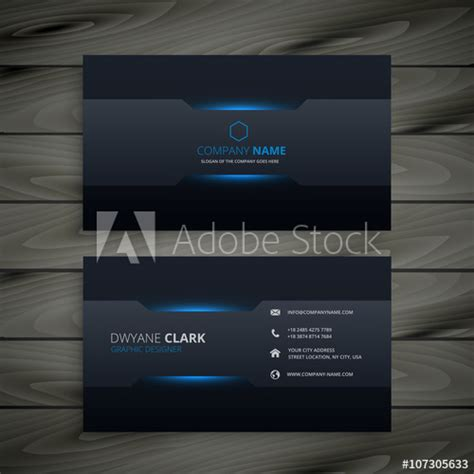 Business Card Template Adobe Stock by Business Card Template Buy This Stock Vector And