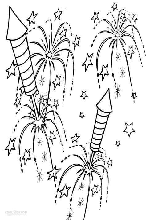 Firework Coloring Pages printable fireworks coloring pages for cool2bkids