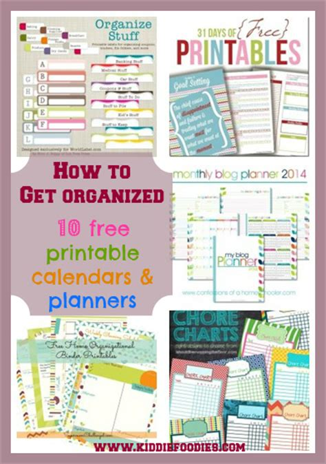 time to get organized get your free planner templates how to get organized 10 free printable calendars and