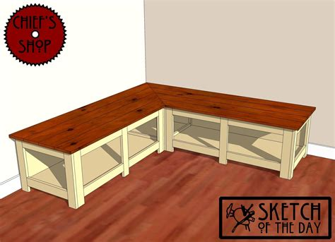 corner storage seating bench chief s shop sketch of the day foyer corner bench youtube